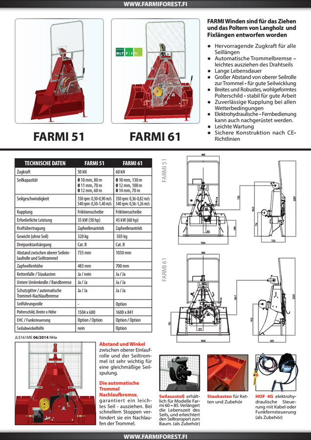 Farmi seilwinde betriebsanleitung
